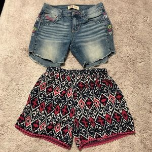 2 pair of girls shorts